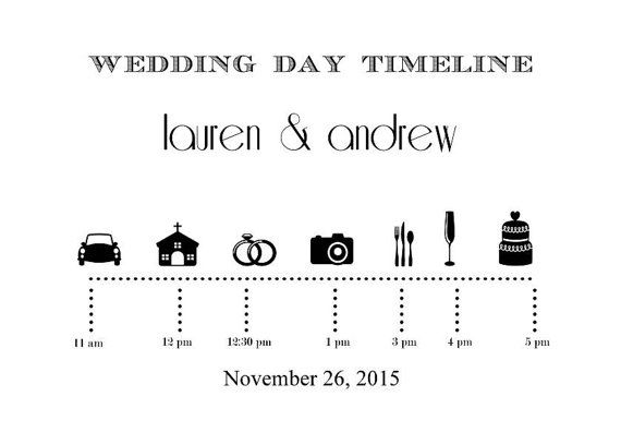 Wedding Day Timeline by RoughElegance on Etsy