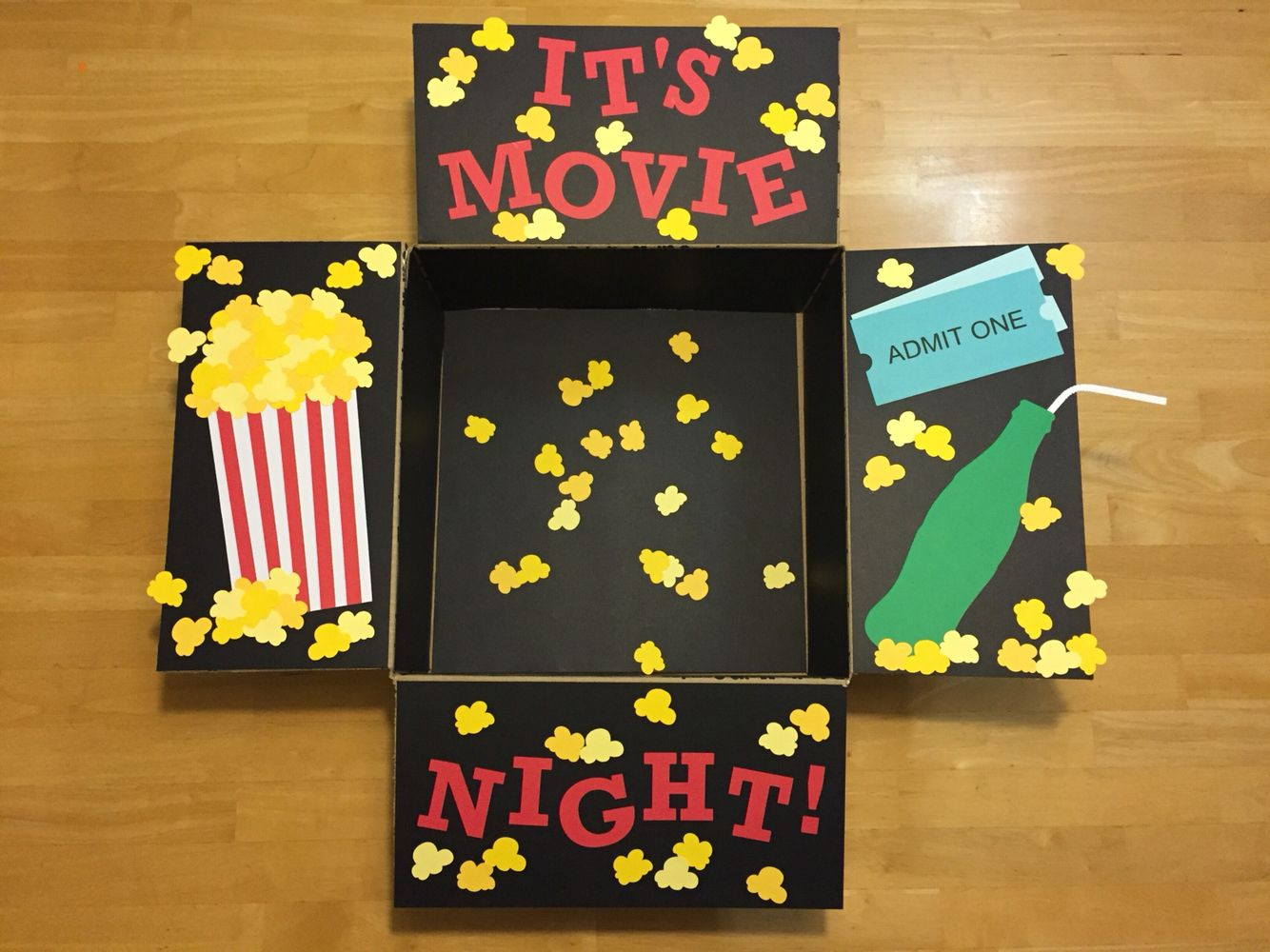 """""""It's Movie Night!"""" Care Package. A care package for my"""