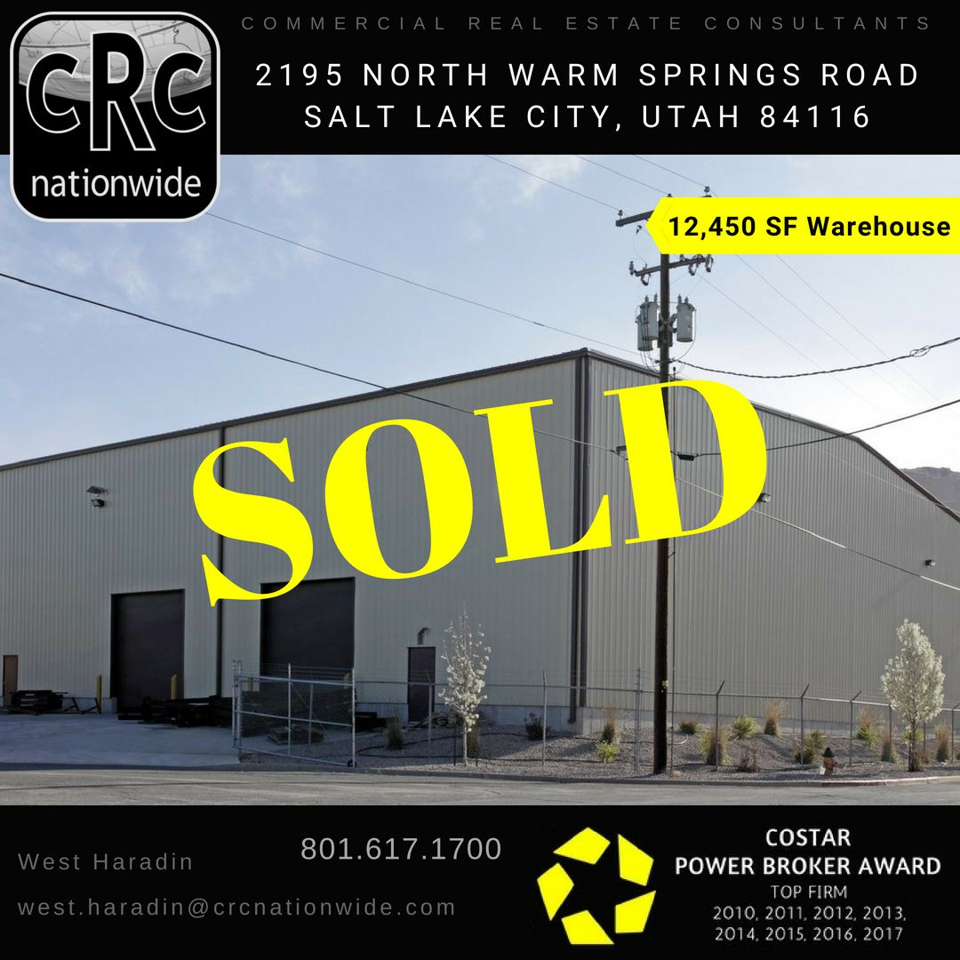 Salt Lake City Utah Houses: #Sold #WarehouseSold #IndustrialSold #CRE