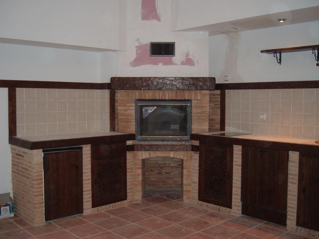 Cocinas r sticas de ladrillo buscar con google cocinas - Mesas de cocina rusticas ...
