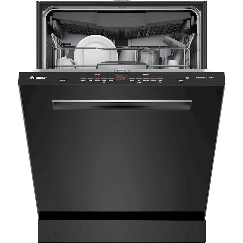 Bosch 500 Series 24 Top Control Built In Dishwasher With Stainless Steel Tub 3rd Rack 44 Dba Black Shpm65z56n Best Buy Steel Tub Built In Dishwasher Black Dishwasher