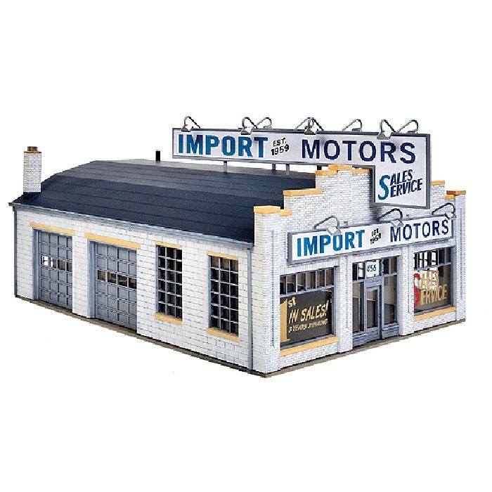 NEW Walthers HO Scale Building Kit Import Motors 933-4023 #Walthers