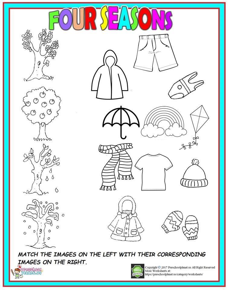 Four Season Worksheet For Kids Seasons Worksheets Seasons Kindergarten Seasons Worksheets For Kids