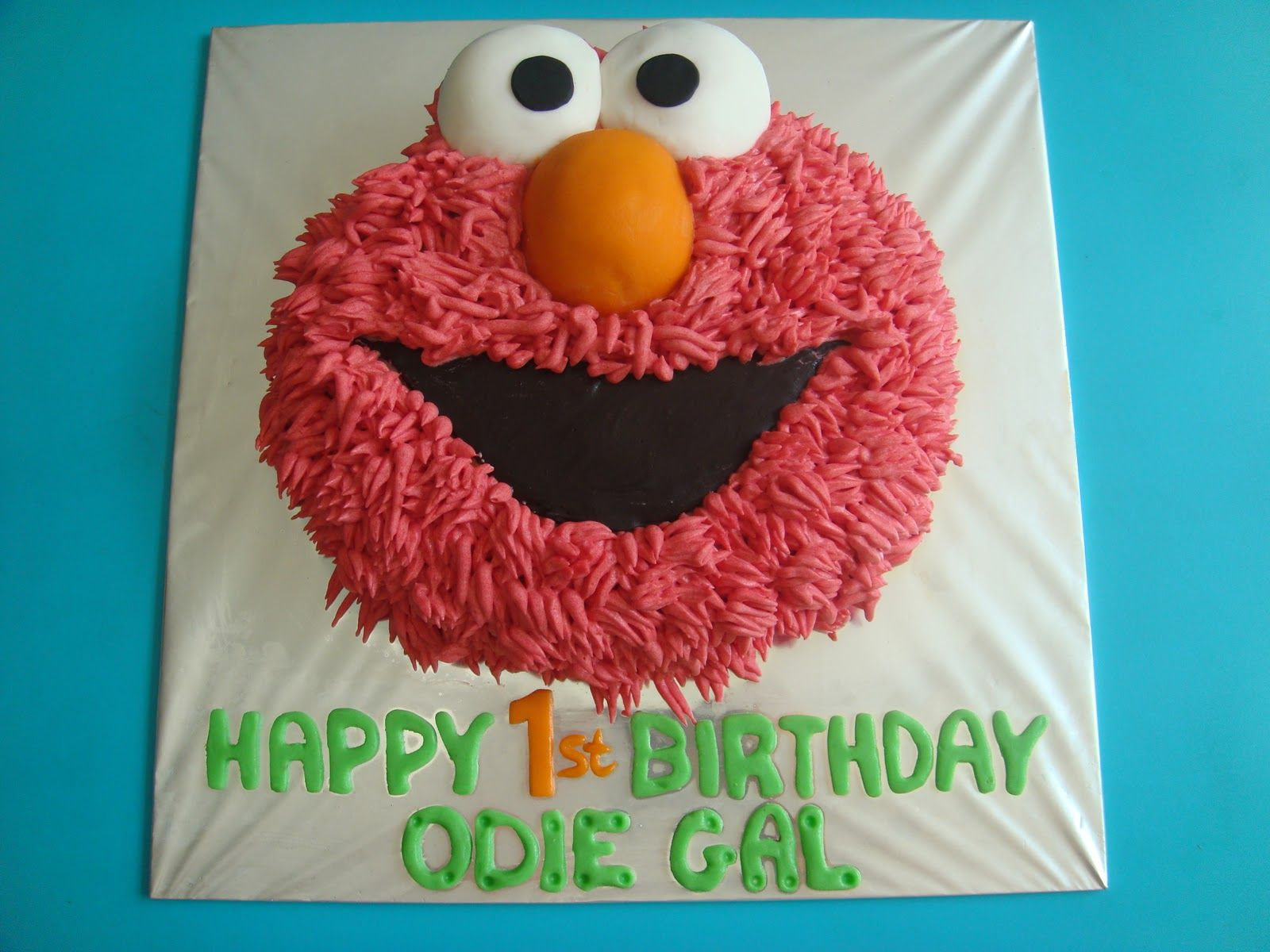 elmo cake Yummy Baking Elmo Buttercream Cake Things that make