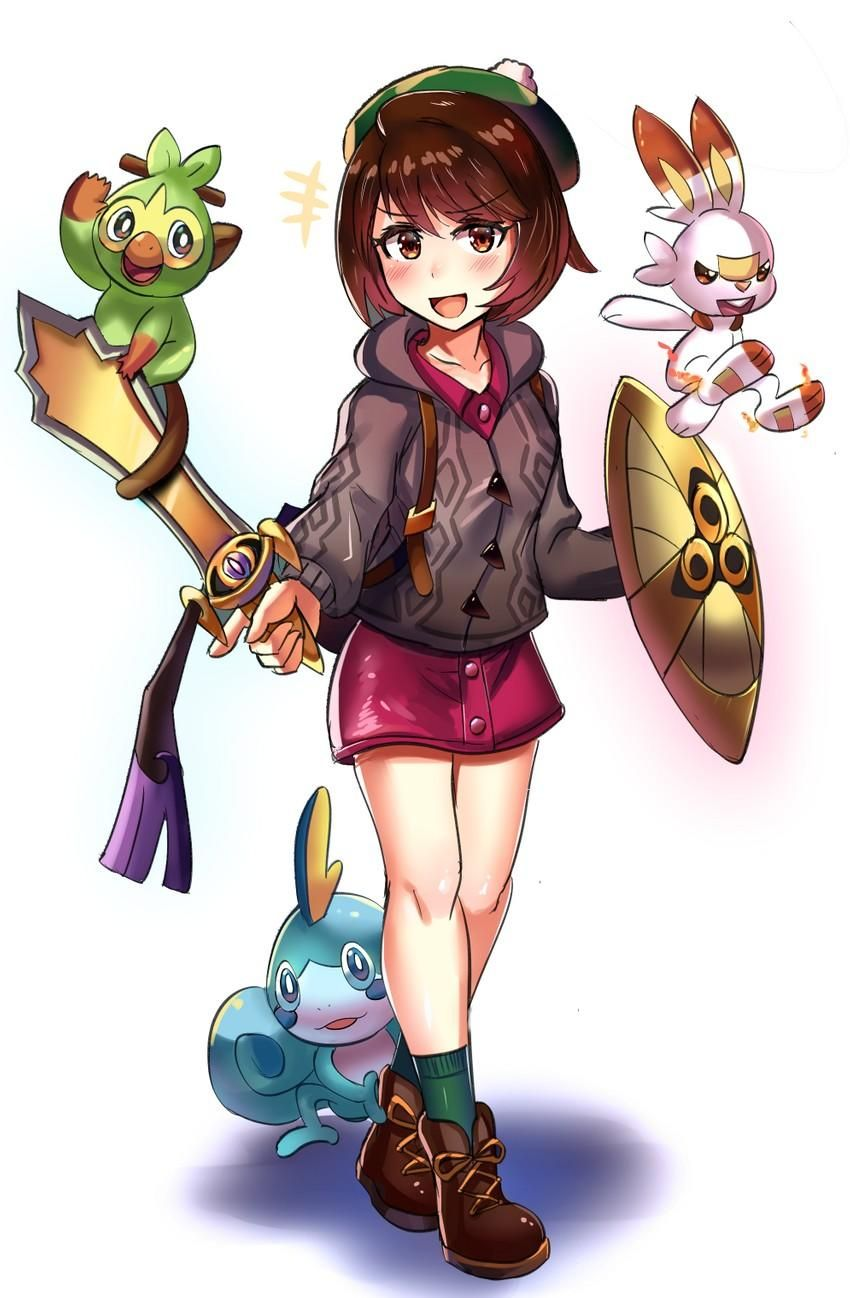 Female Trainer With Her Sword And Shield ʚ Pokemon ɞ