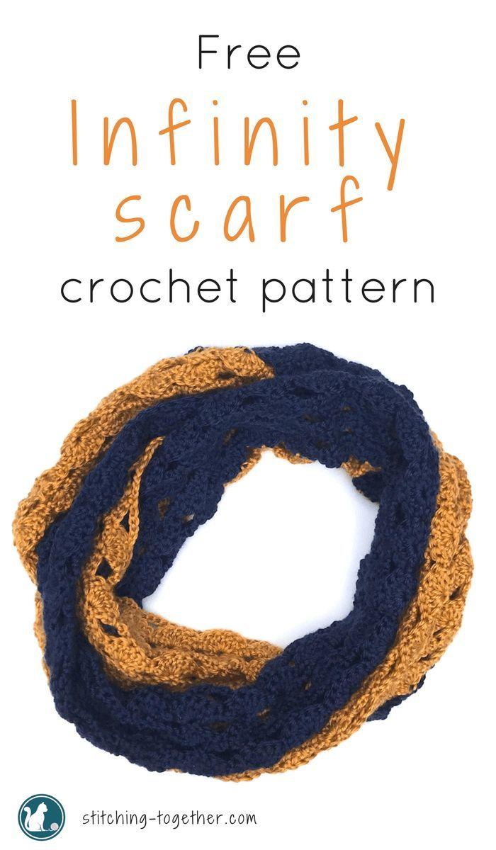 The Rival Crochet Infinity Scarf | Cuellos tejidos y Tejido