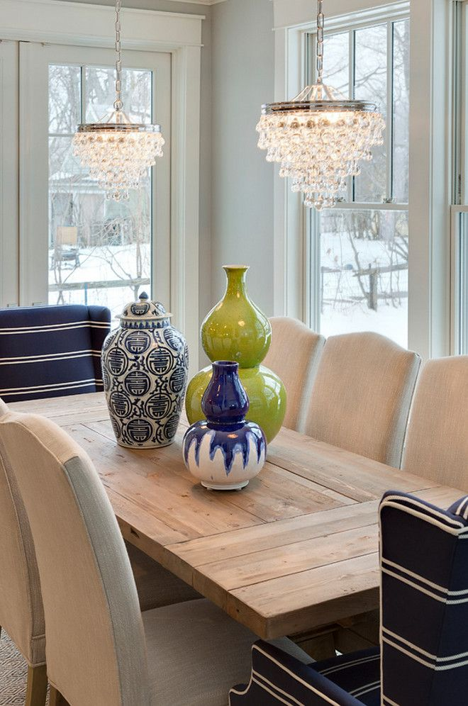 Small Teardrop Chandelier In Polished Nickel The Dining Room