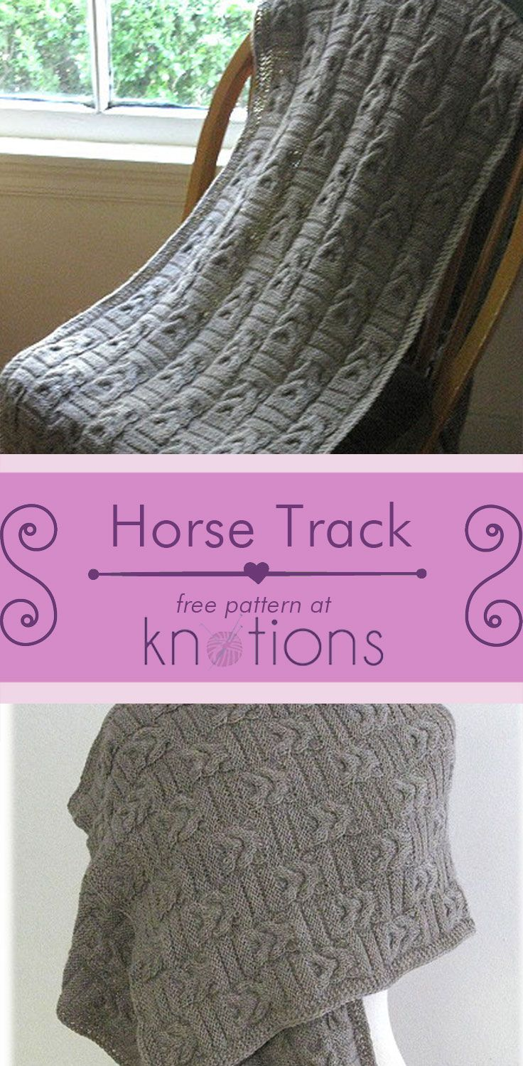 Horse Track Wrap Knitting Patterns Chart And Wraps