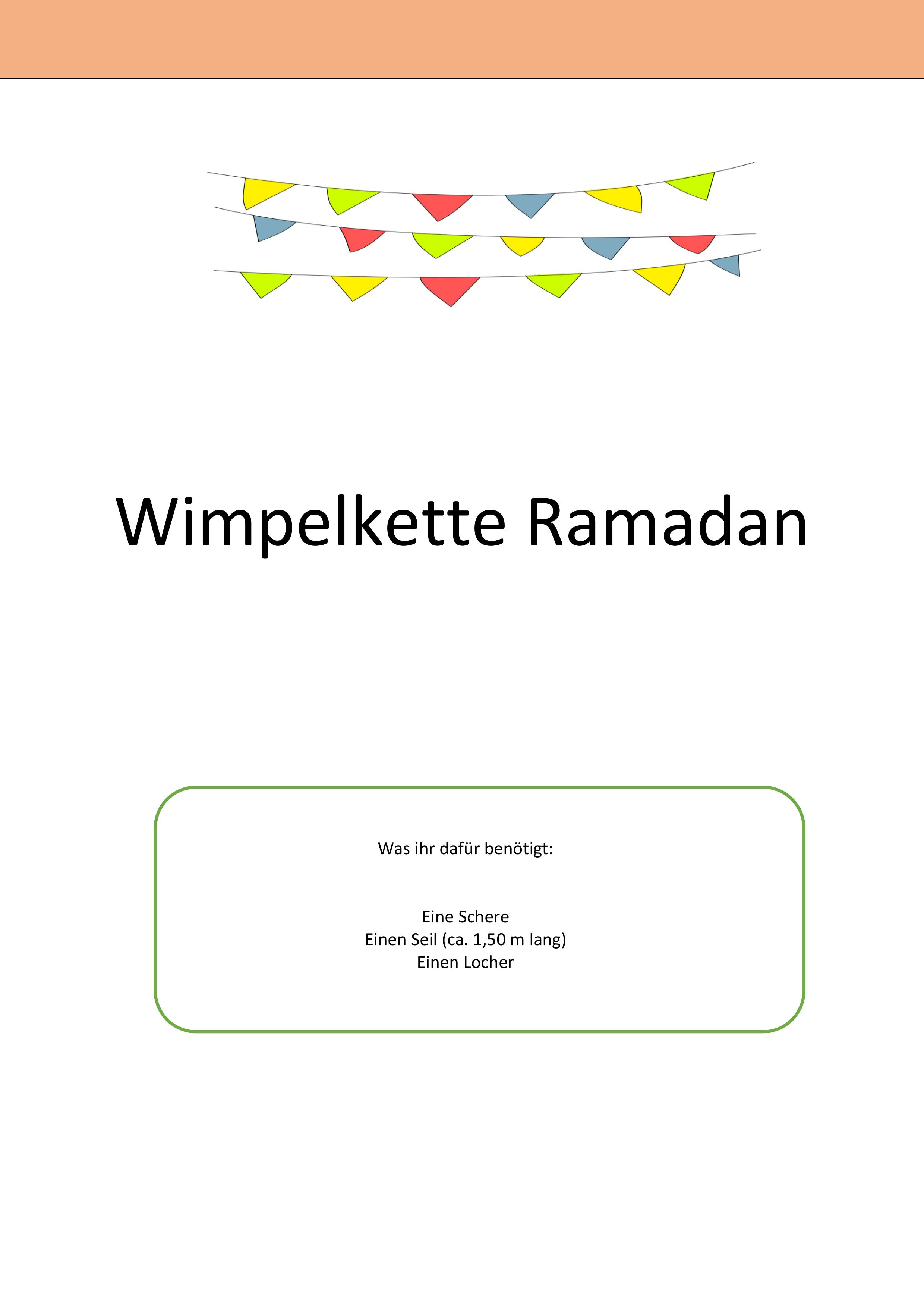 Wimpelkette Ramadan Ramadan Religionsunterricht Wimpelkette
