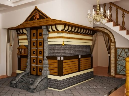 Outstanding kerala home interior designs pooja room design sqft traditional house plan with staircase poojamuri pictures also rh ar pinterest