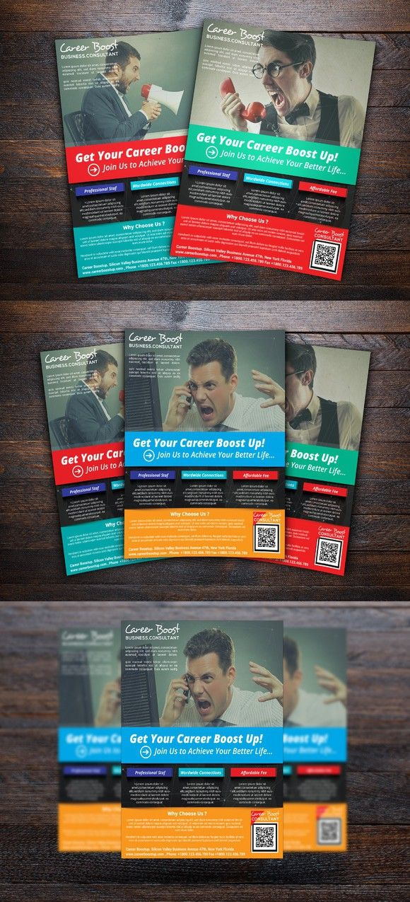 Career Boost Consultant Flyer Pinterest Flyer Template Template