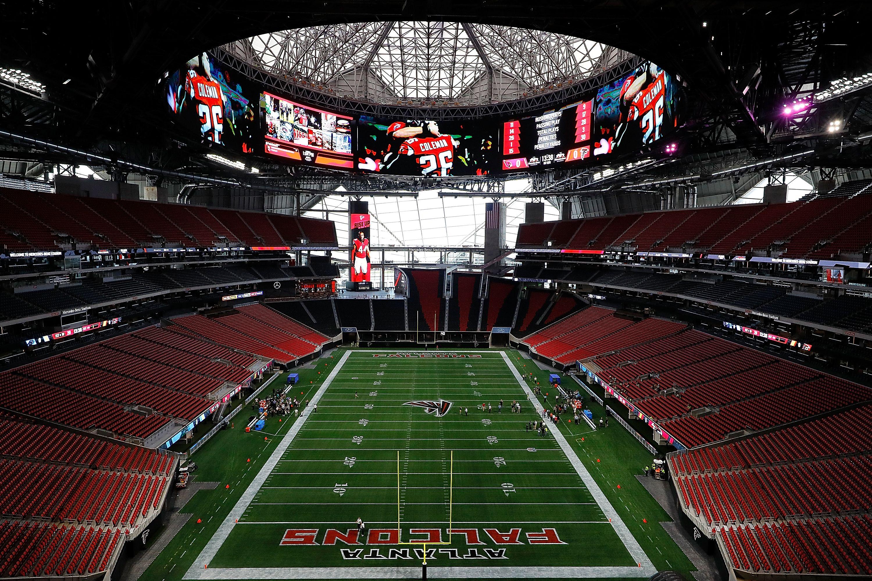 Pin By Kelly Kressley On Falcons Super Bowl Stadium Atlanta Falcons