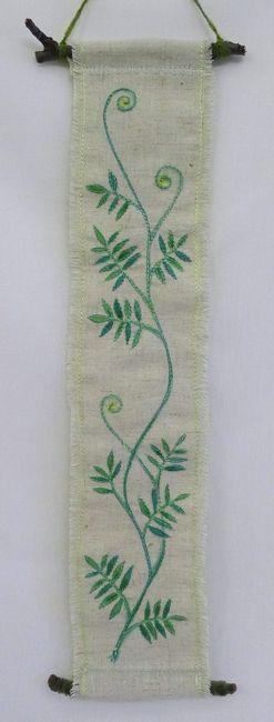hanging no.5  needlework art Ⓒ Nagako Ono HAPPa_Ya #art #plants #hanging