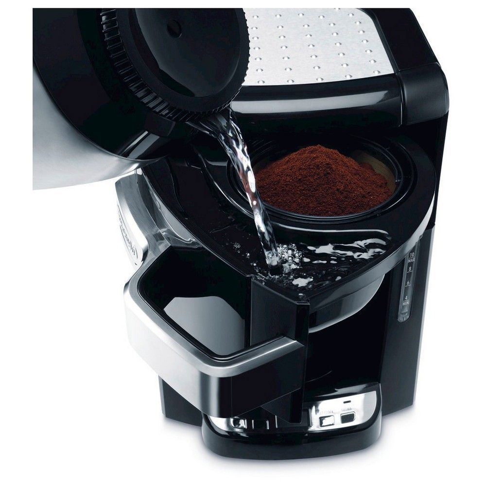 Delonghi 10 Cup Drip Coffee Maker Black, Adult Unisex