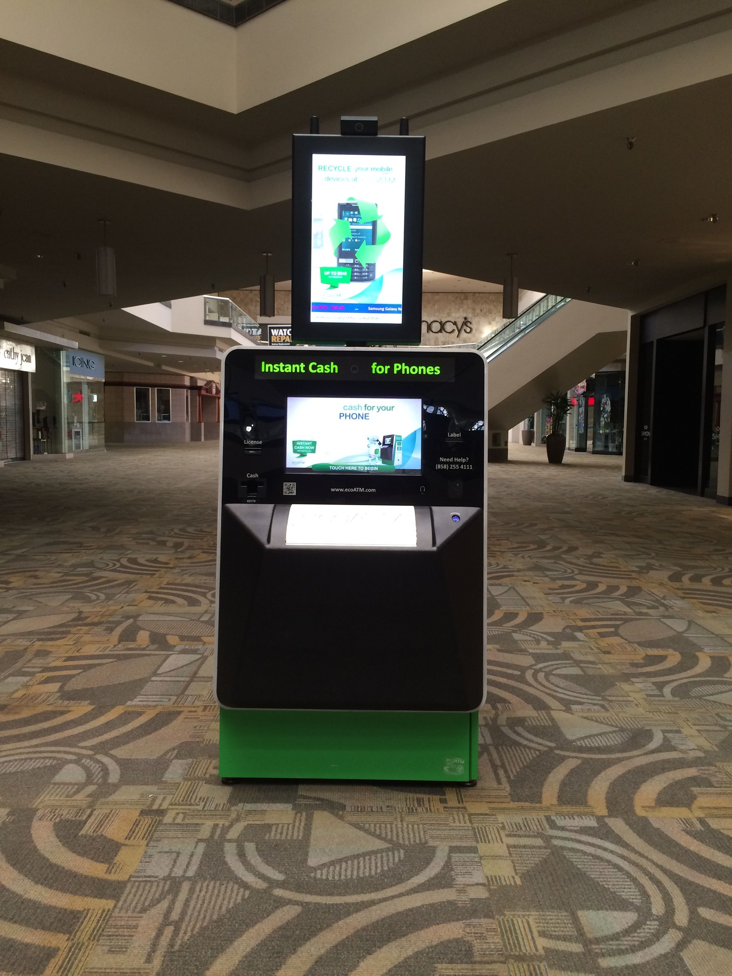 This ecoATM kiosk can be found at Westminster Mall in