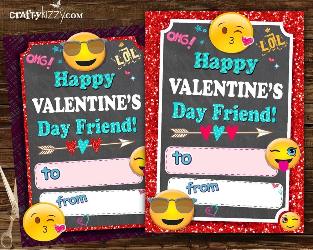 Emoji Valentines Cards