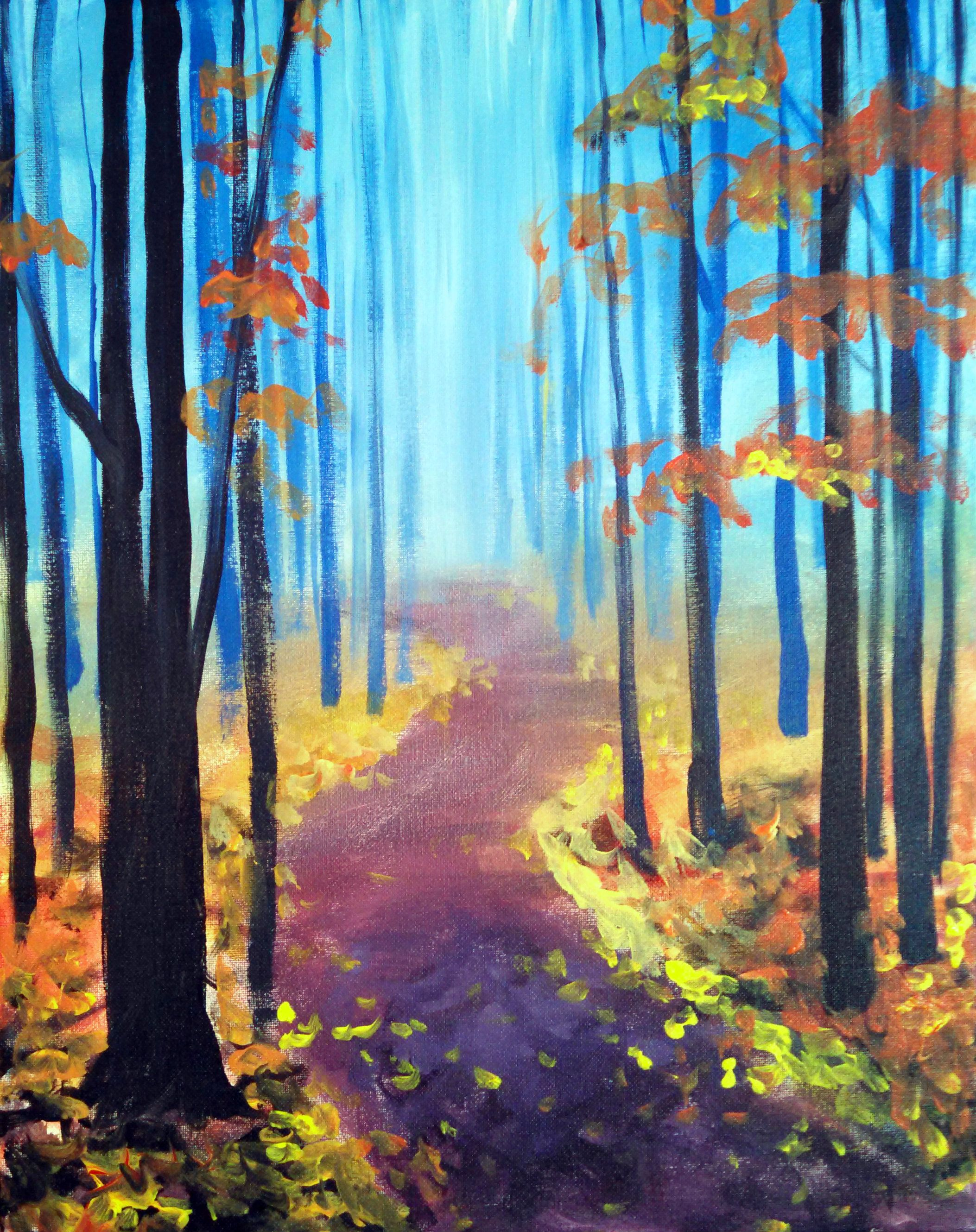 Paint Nite Fall Easy Painting Ideas