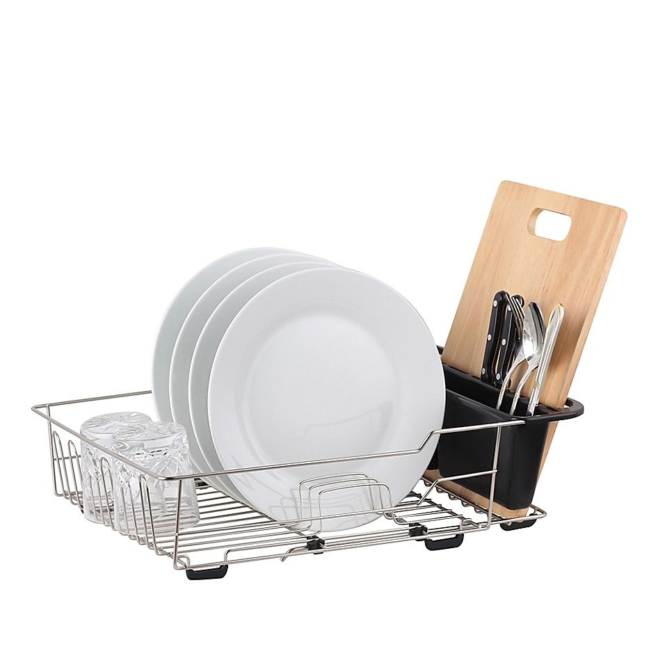 Large Dish Rack In Satin Nickel Dish Racks Cutlery Caddy