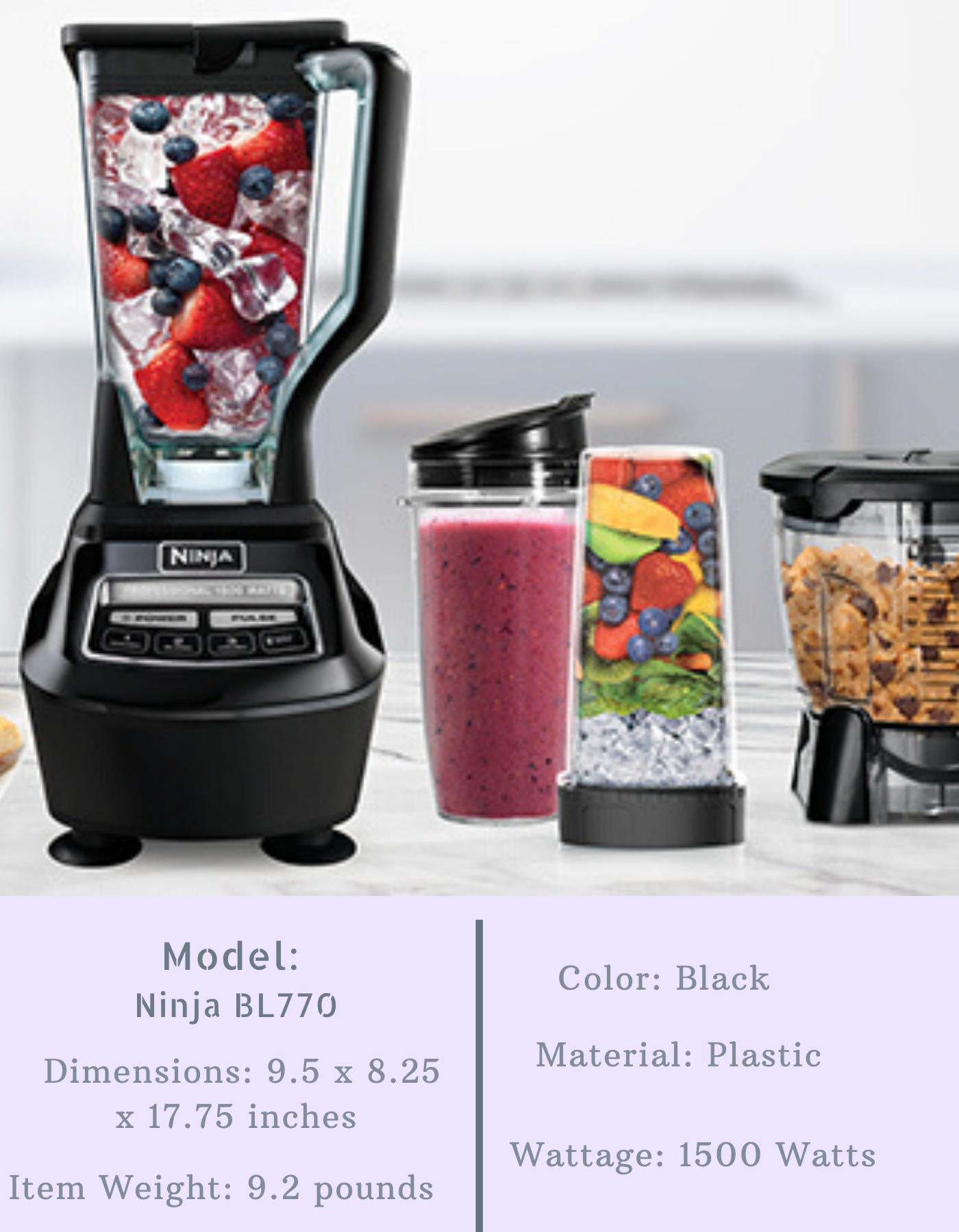 Ninja BL770 Mega Kitchen System Blender and Food Processor Features
