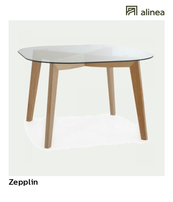 alinea zepplin table ronde en verre