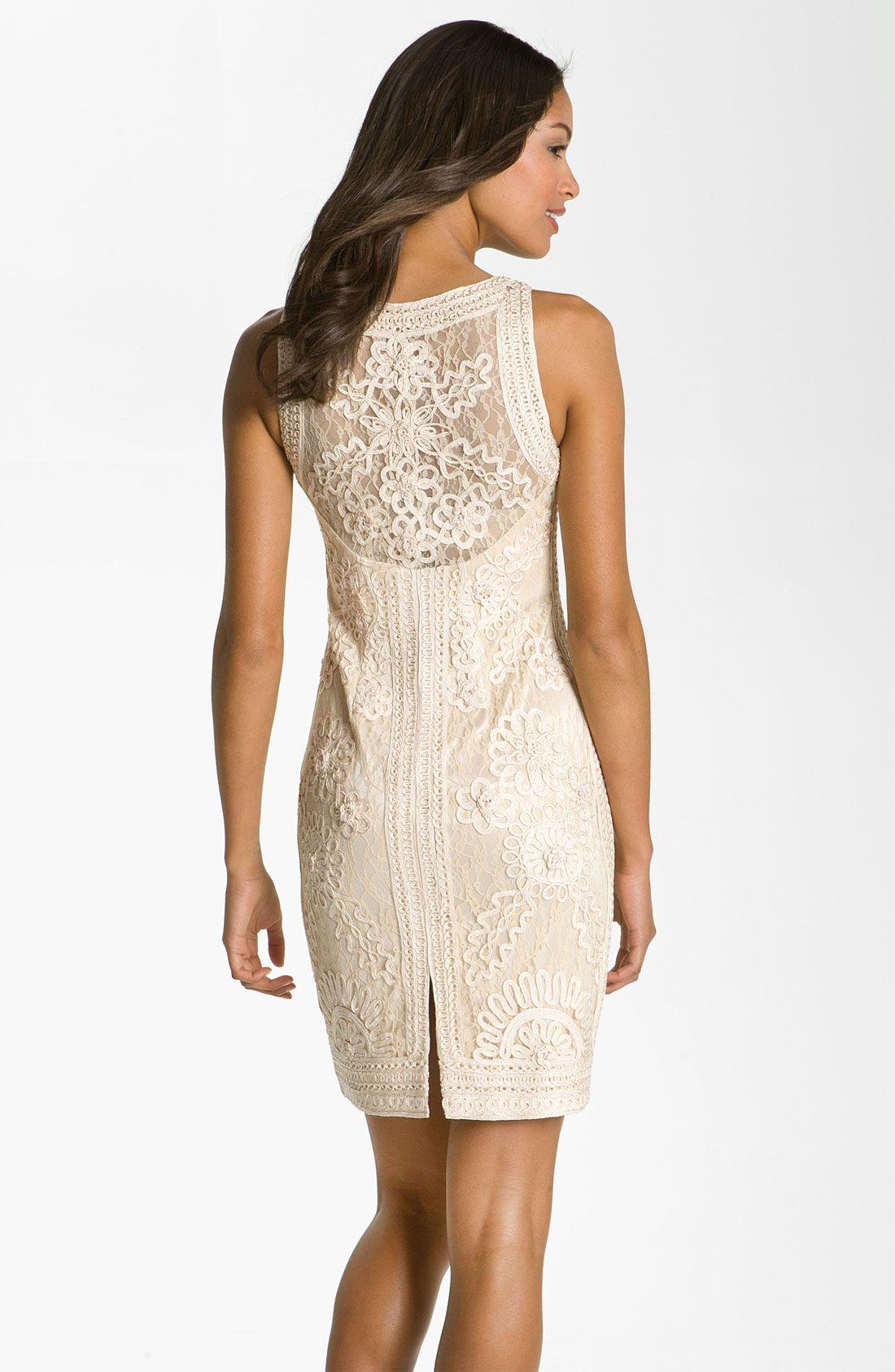 sue wong wedding dresses  Sue Wong Embellished Illusion Back Sheath ...