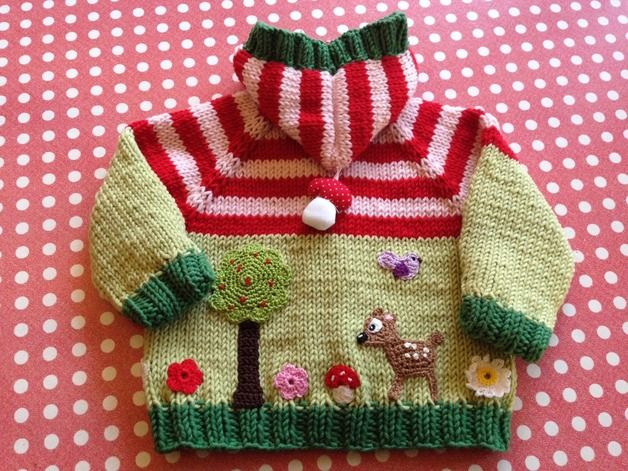 Photo of Handgestrickte Babyjacke  !  Mit sehr viel Liebe und Sorgfalt gearbeitet !  Wie …