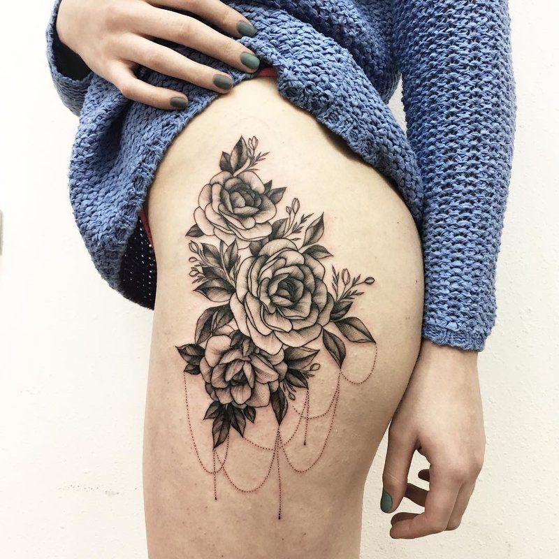 Картинки по запросу татуировка на бедре   Татуировки ...