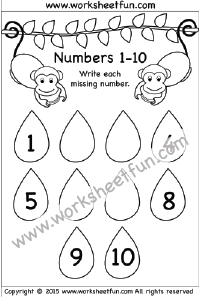 Numbers 1 10 Free Printable Worksheets Free Printable Worksheets Numbers Preschool Printables Kindergarten Math Worksheets Free