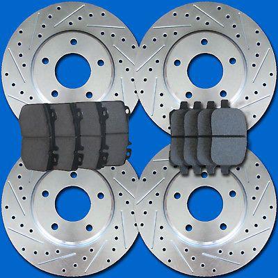 Front Brake Calipers Rotors Ceramic Pads For HONDA CIVC COUPE SEDAN HATCHBACK