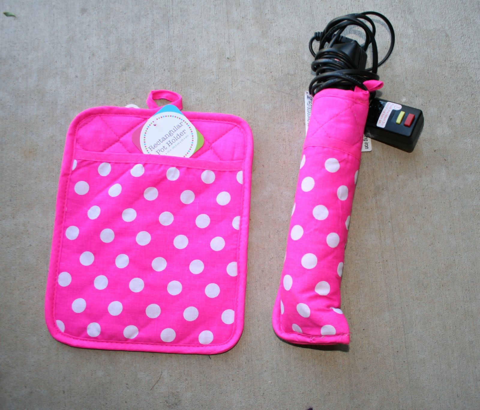 Make a cover for curling iron from a hot pad - so you can put it ...