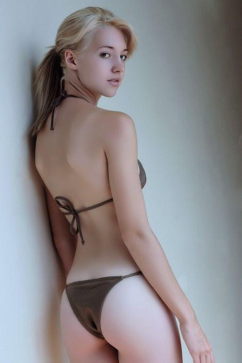 Cute blonde girls in bikinis