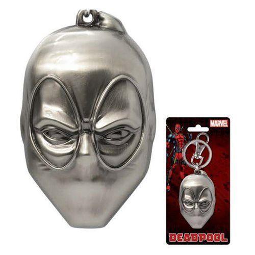 Deadpool Head Pewter Key Chain