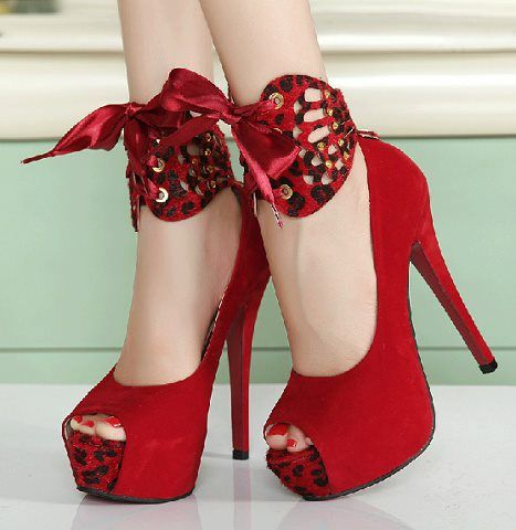 Blood Red High Heels