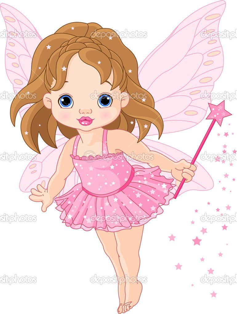 ab6c4884c fairy clip art free images | Cute little baby fairy — Stock Vector © Anna  Velichkovsky #4650832