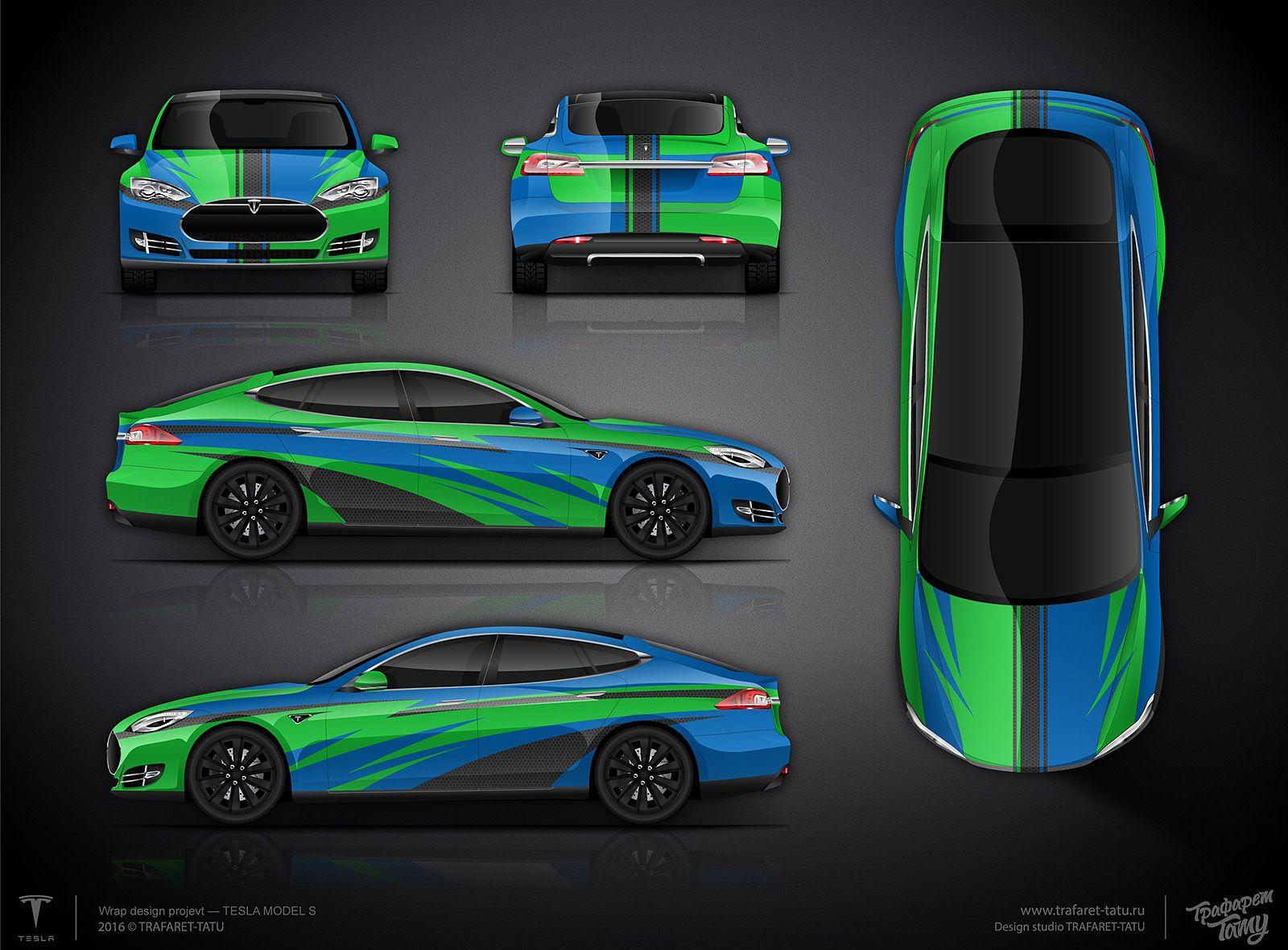 Design car wrap - The Approved Knifeless Car Wrap Design For Tesla S