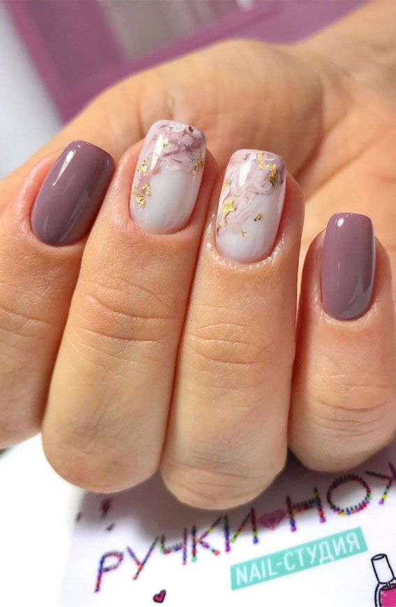 47 Beautiful Nail Art Designs & Ideas : marble and