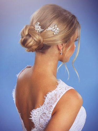 The double hair pins perfect for any up do style on your wedding day.