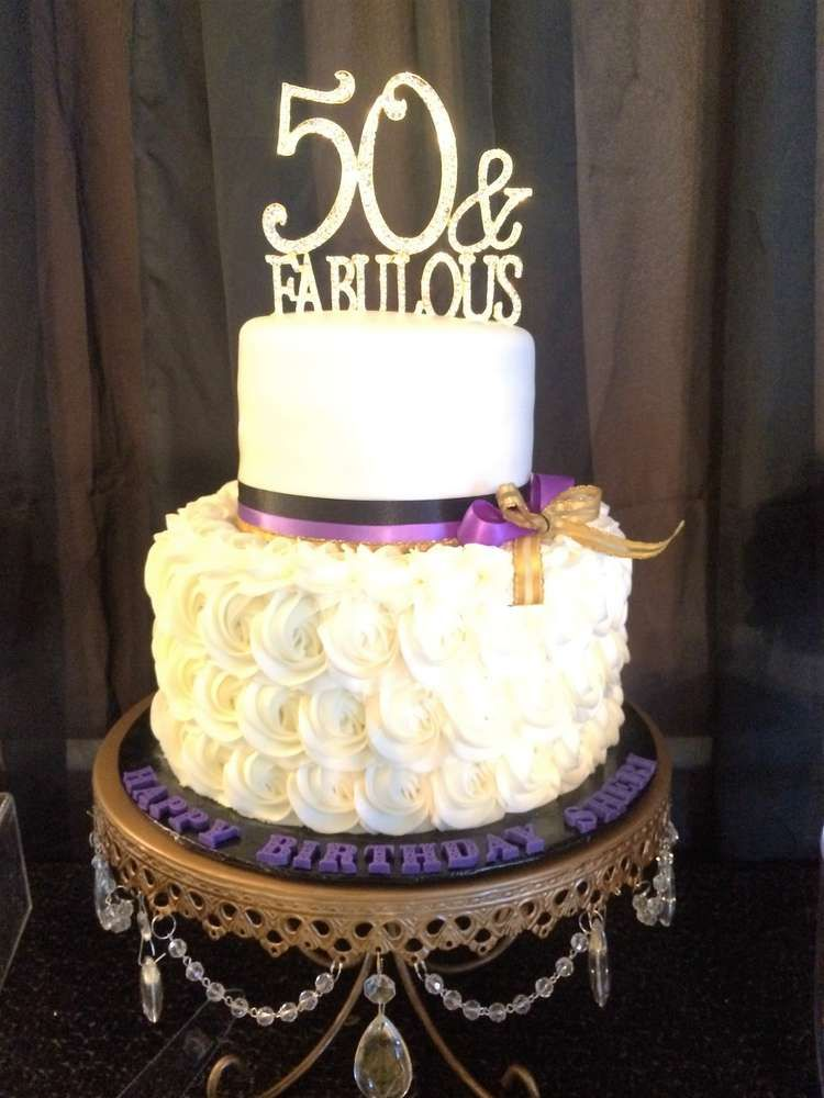 Gold Purple And Black Birthday Party Ideas With Images 50th