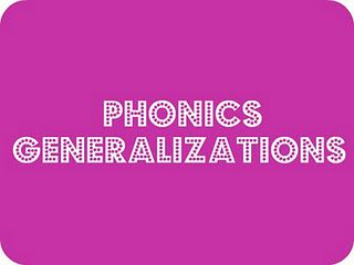 Phonics Generalizations - List of 18 phonics rules used to teach