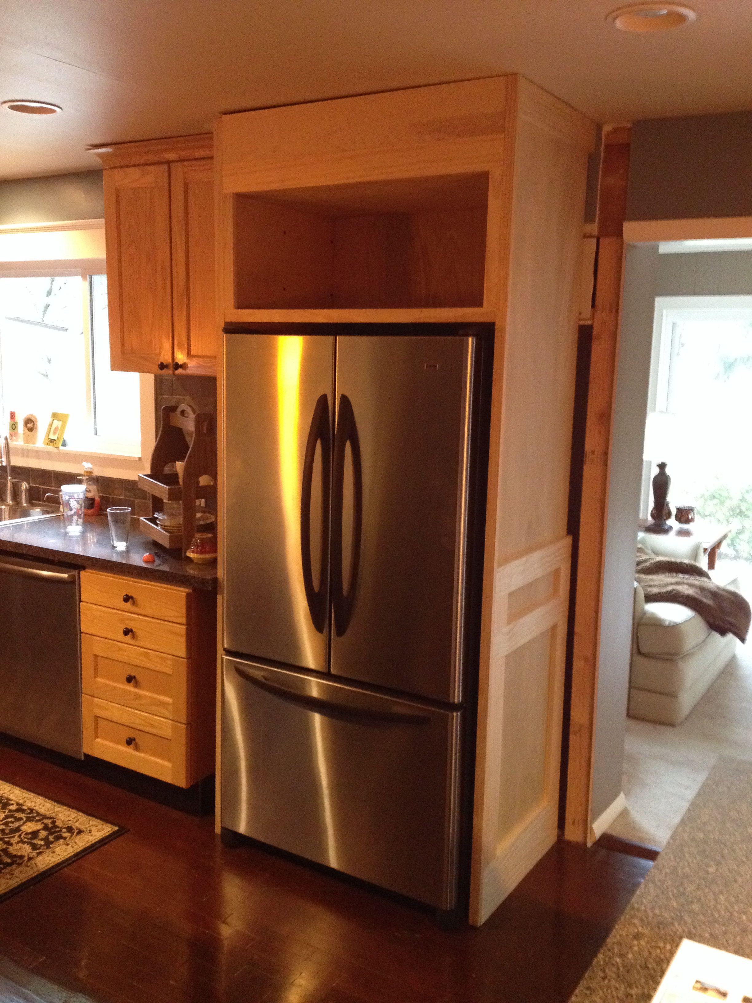 Refrigerator Enclosure Home Decor Kitchen Kitchen Remodel Cost Kitchen Built Ins