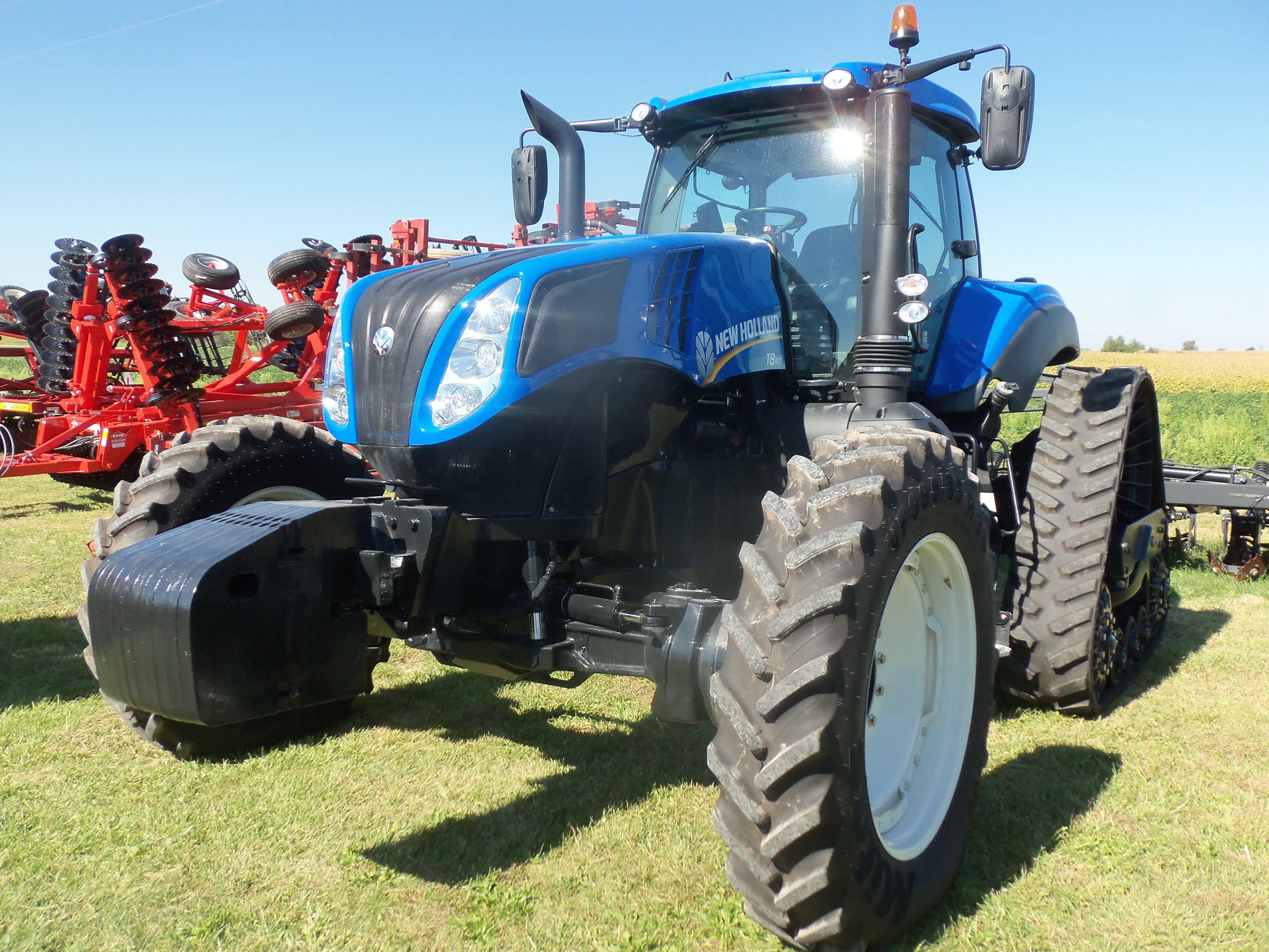 Old Tractor With Tracks : New holland t with rear tracks farm