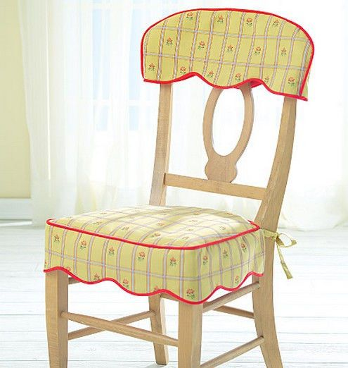 Kitchen Chair Covers Black Dining Table And Chairs Sewing Pattern Mccall S M4405 Room Ebay