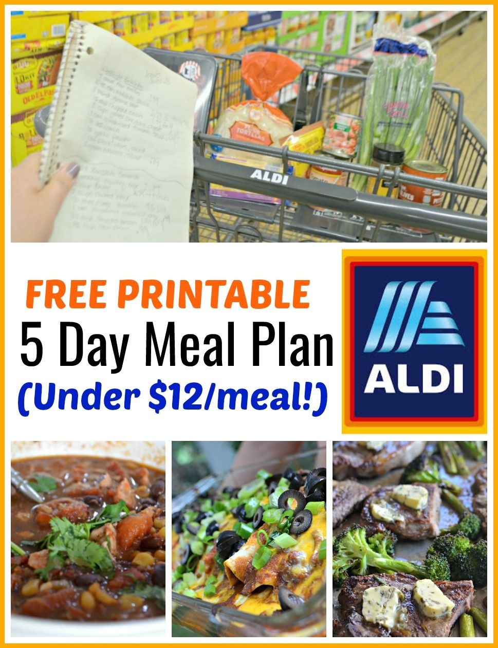 We Ve Created This 5 Day Free Printable Aldi Meal Plan With Easy