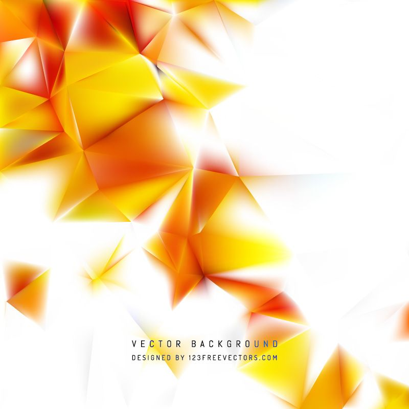 Red Yellow Polygon Triangle Pattern Background