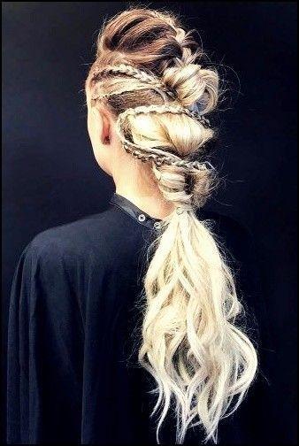 5 Vikinger Lagertha Haar Tutorial Und Frisuren Fur Frauen Haare Haarschnitte Frisuren Ha Lagertha Hair Viking Hair Hair Tutorial