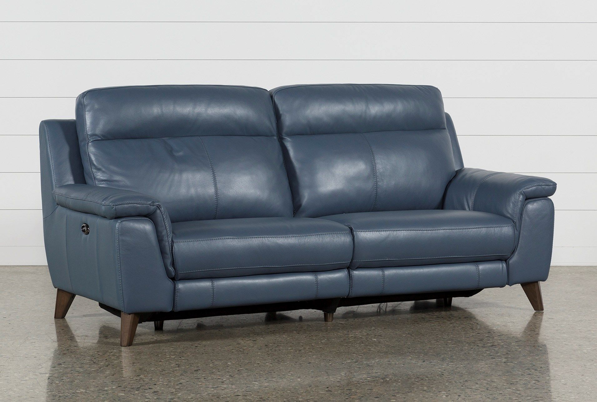 Best Dual Power Reclining Sofa With Usb Port Moana Blue 640 x 480