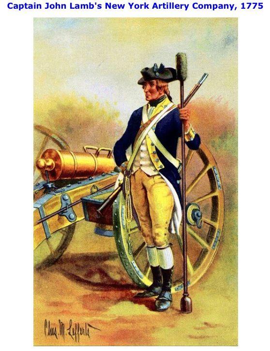Cannoniere della compagnia di artiglieria del capitano Lamb di New York