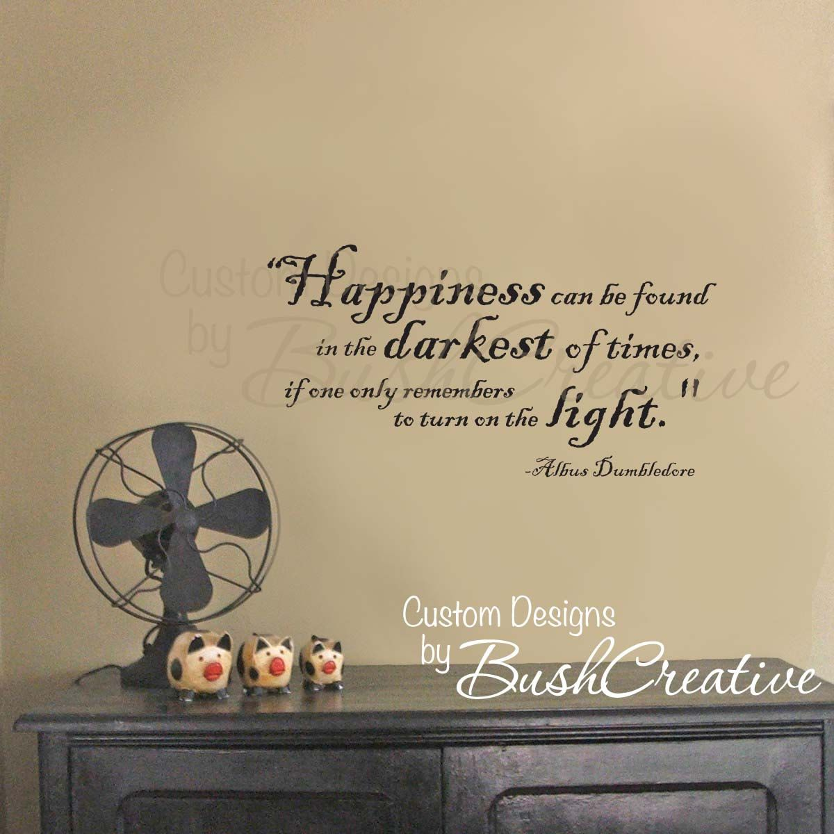 Wall Decal Harry Potter Happiness Quote By Dumbledore. $20.00, Via Etsy. Part 64