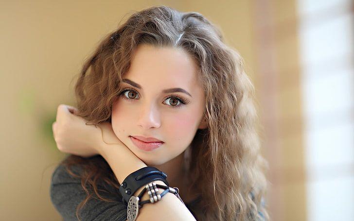Wallpaper : women outdoors, model, long hair, brunette