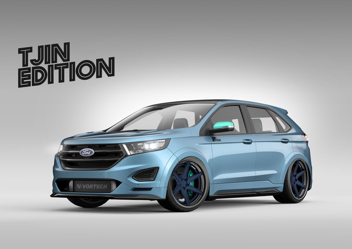 Tjin Edition Shows Their Ford Edge With New Car Rims For Sema